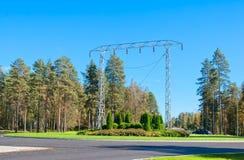 Imatra, Finlande Monument de tour de transmission Photographie stock