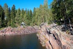 Imatra, Finlande Rivière de Vuoksi photographie stock