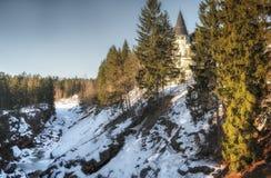 Imatra, Finlandia, Marzec 24, 2019: Widok Grodowy hotel w Imatra w zimie obraz stock