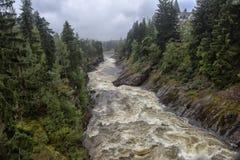 Imatra, Finnland Fluss Vuoksa stockbilder