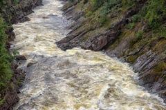 Imatra, Finnland Fluss Vuoksa stockbild