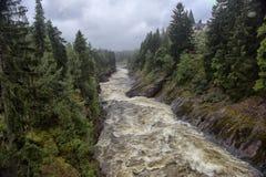 Imatra, Finnland Fluss Vuoksa stockfotografie
