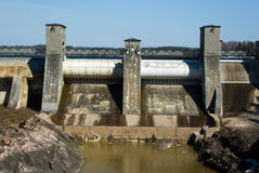 Imatra hydroelectric power station. Finland Royalty Free Stock Image
