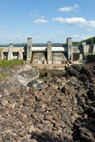 Imatra hydroelectric power station. Old hydroelectric power station in Imatra. Finland Stock Photo