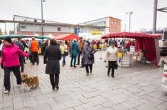 Imatra, Seasonal street Fair in Finland Stock Images