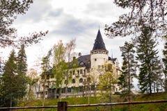 Imatra, Suomi or Finland. Art Nouveau house in Imatra, Finland Stock Photography