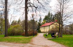 Imatra, Suomi or Finland. View of in park Imatra, Suomi Royalty Free Stock Images