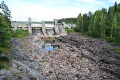 Imatra vattenkraftstation. royaltyfri bild