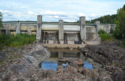 Imatra vattenkraftstation. royaltyfri foto