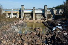Imatra Wasserkraftwerk stockfoto