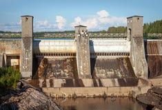 Imatrankoski - w Imat hydroelektryczna elektrownia Zdjęcia Stock
