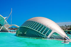 IMAX 3D-cinema in the City of the Arts and Sciences in Valencia, Spain. Royalty Free Stock Images