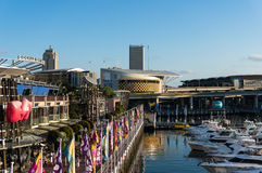 Imax movie theatre building in Darling Harbour Royalty Free Stock Photo