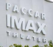IMAX-Theater op Vreedzaam de Wetenschapscentrum van Seattle - SEATTLE/WASHINGTON - APRIL 11, 2017 Stock Fotografie