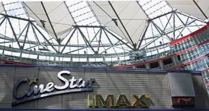 IMAX-theater Sony Center Berlin Stock Foto's