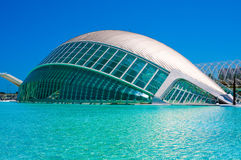 IMAX theatre in the City of the Arts and Sciences in Valencia, Spain. Royalty Free Stock Photo