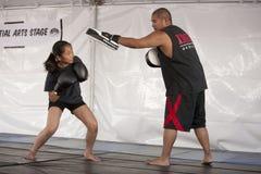 IMB Boxing Girl Stock Image