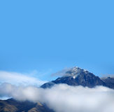 Imbabura peak in snow. And ring of clouds near to Otavalo,  Ecuador Stock Image