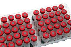 Imballaggio del primo piano del vaccino Fotografia Stock Libera da Diritti