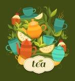 Imballaggio del tè di progettazione Fotografie Stock Libere da Diritti