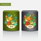 Imballaggio del tè di progettazione Fotografia Stock Libera da Diritti