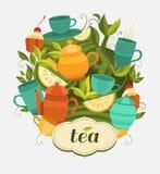 Imballaggio del tè di progettazione Fotografia Stock