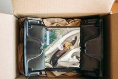 Imballaggio del trasporto del drive del hard disk Fotografie Stock Libere da Diritti