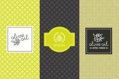 Imballaggio dell'olio d'oliva Immagini Stock Libere da Diritti