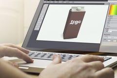 imballaggio di informatica domestica immagine stock