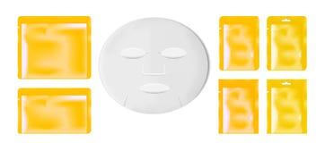 Imballaggio di plastica vuoto con la maschera dello strato Stagnola in bianco o s di plastica royalty illustrazione gratis