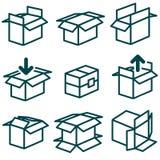 Imballaggio e scatole in vari tipi Royalty Illustrazione gratis