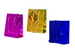 Imballaggio olografico del regalo Fotografie Stock