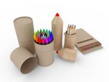 Imballaggio riciclato/riciclabile Fotografie Stock Libere da Diritti