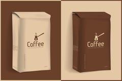 Imballaggio sotto vuoto di caffè Fotografia Stock