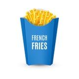 Imballando per le patate fritte Immagine Stock Libera da Diritti