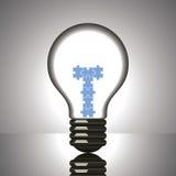 Imbarazzi il cambiamento in lampadina Immagine Stock Libera da Diritti