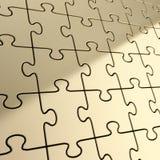 Imbarazzi il fondo del puzzle fatto dei pezzi brillanti del metallo Fotografia Stock Libera da Diritti