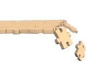 Imbarazzi il percorso con alcuni pezzi che cadono, la rappresentazione 3D Immagini Stock Libere da Diritti