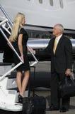 Imbarcarsi su un jet privato Immagine Stock Libera da Diritti