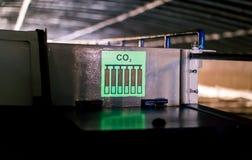 imbarcazione da diporto fluorescente di CO2 dell'etichetta immagine stock
