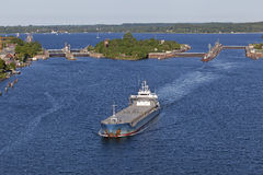 Imbarcazione di carico sul canale di Kiel Fotografia Stock Libera da Diritti