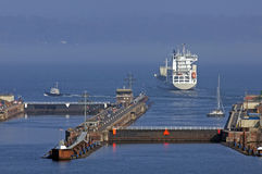 Imbarcazione di contenitore Immagine Stock