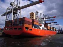 Imbarcazione di contenitore Immagini Stock