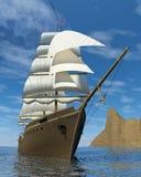 Imbarcazione di navigazione Fotografia Stock