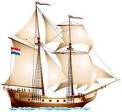 Imbarcazione di navigazione del Brigantine illustrazione vettoriale