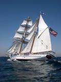 Imbarcazione di navigazione Irving Johnson Immagini Stock Libere da Diritti