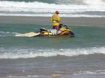 Imbarcazione di soccorso della spuma Fotografie Stock