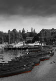 Imbarcazioni a remi nel lago Windermere Fotografia Stock Libera da Diritti