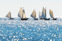 Imbarcazioni a remi postali Fotografia Stock
