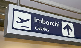 Imbarchi sign Royalty Free Stock Image